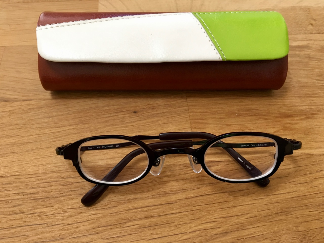 ウスカルメガネに変えました